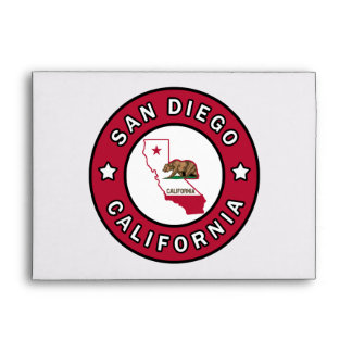 San Diego California Envelope