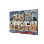 San Diego, California - escenas grandes 2 de la le Lona Estirada Galerias