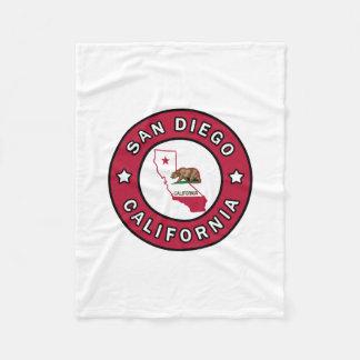 San Diego California Fleece Blanket