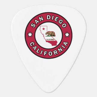 San Diego California Guitar Pick
