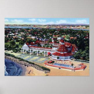 San Diego California Hotel Del Coronado Poster