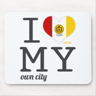 San Diego California I love my own city Mouse Pad