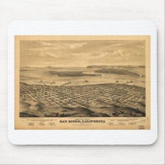 San Diego California in the 1876 Mouse Pad