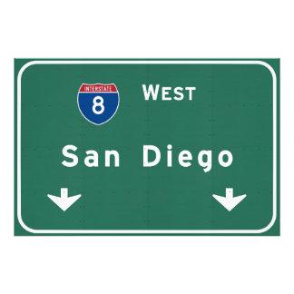 San Diego California Interstate Highway Freeway : Photo Print
