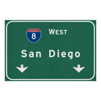 San Diego California Interstate Highway Freeway : Poster
