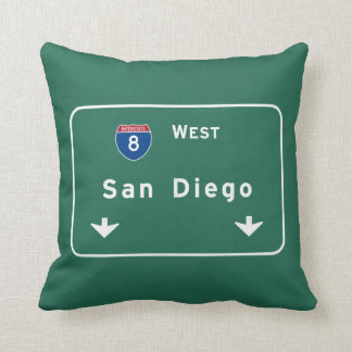 San Diego California Interstate Highway Freeway : Throw Pillow