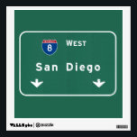 """San Diego California Interstate Highway Freeway : Wall Sticker<br><div class=""""desc"""">San Diego California ca The IDEAL gift for anybody wanting a unique reminder of their favorite location! This familiar interstate sign design features the authentic and accurate typography officially used by the FHA/MUTCD. Our design also uses the exact same Pantone color specifications. Interstate : Highway : Freeway : Street :...</div>"""