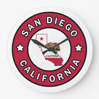 San Diego California Large Clock