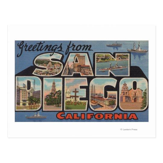 San Diego, California - Large Letter Scenes Postcard