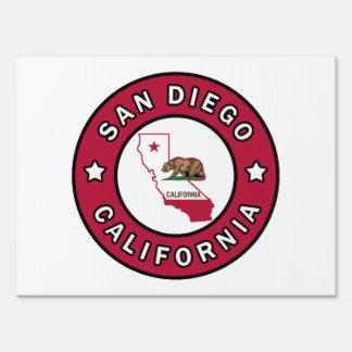 San Diego California Lawn Sign