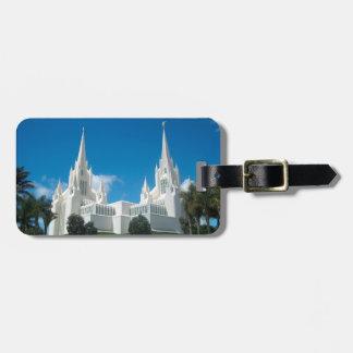 San Diego California LDS Temple Luggage Tag
