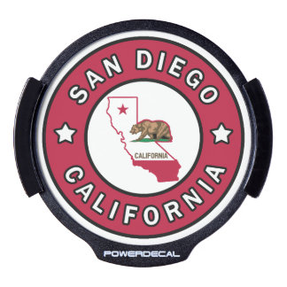 San Diego California LED Window Decal