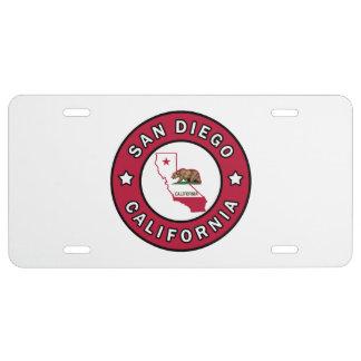 San Diego California License Plate