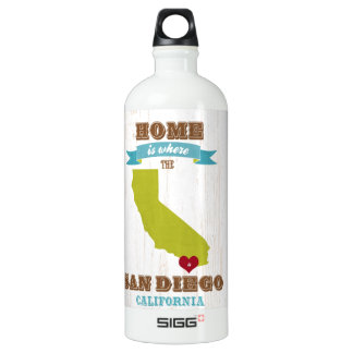 San Diego, California Map – Home Is Where The Hear SIGG Traveler 1.0L Water Bottle