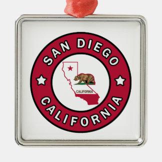 San Diego California Metal Ornament
