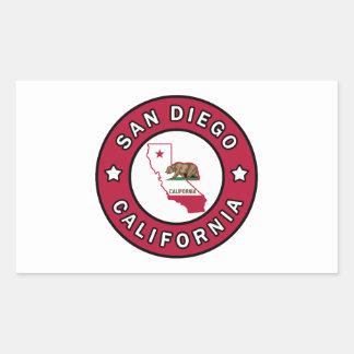 San Diego California Rectangular Sticker