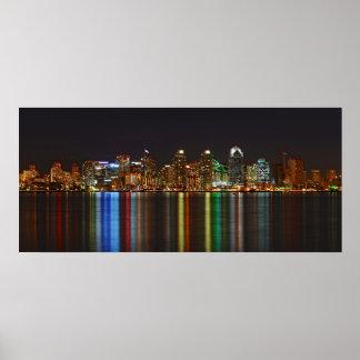 San Diego California Reflecting Pond Panorama Posters