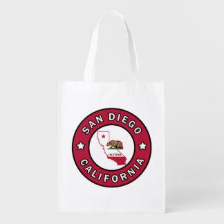 San Diego California Reusable Grocery Bag
