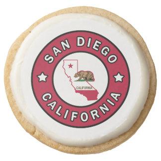 San Diego California Round Shortbread Cookie