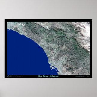 San Diego California satellite poster photo print