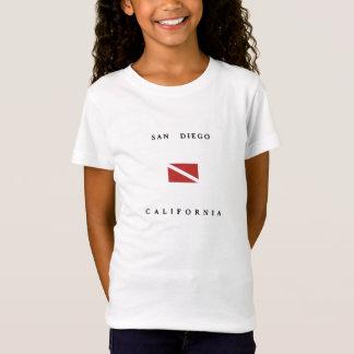 San Diego California Scuba Dive Flag T-Shirt