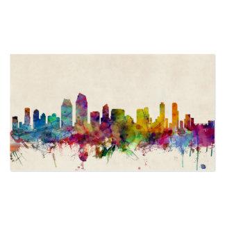 San Diego California Skyline Business Card