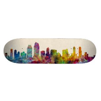 San Diego California Skyline Skate Deck