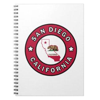 San Diego California Spiral Notebook