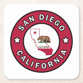 San Diego California Square Paper Coaster