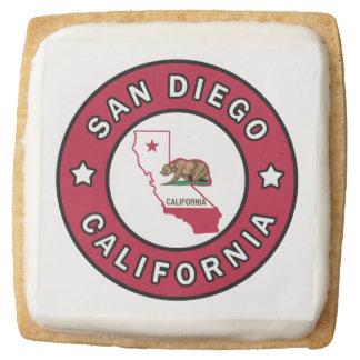 San Diego California Square Shortbread Cookie
