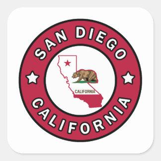 San Diego California Square Sticker