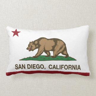 San Diego California state flag Throw Pillows