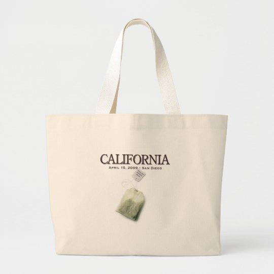 San Diego California Tea Party Large Tote Bag