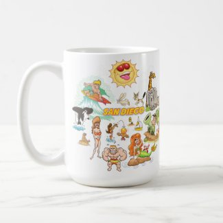 San Diego California White Coffee Mug