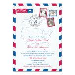 San Diego Cancun Airmail | WEDDING 5x7 Paper Invitation Card