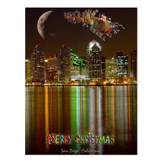 San Diego Christmas postcard
