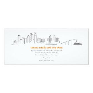 San Diego City Skyline Coronado Wedding Invitation