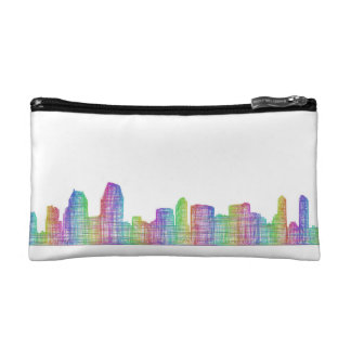 San Diego city skyline Cosmetic Bag
