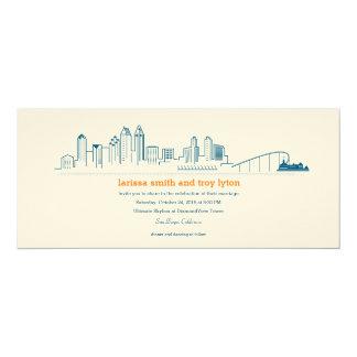 San Diego City Skyline Invitation