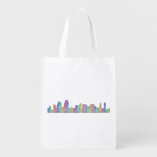 San Diego city skyline Reusable Grocery Bag
