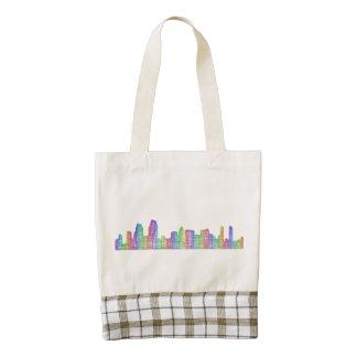 San Diego city skyline Zazzle HEART Tote Bag