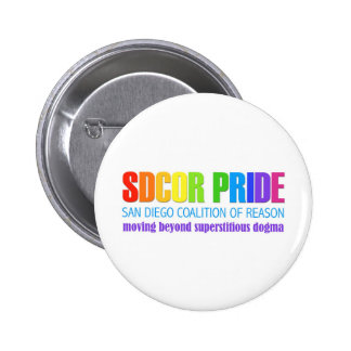 San Diego Coalition of Reason Pride 2 Inch Round Button