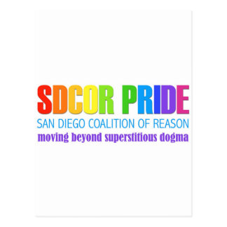 San Diego Coalition of Reason Pride Postcard
