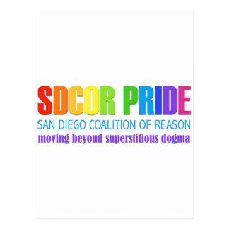 San Diego Coalition of Reason Pride Postcard