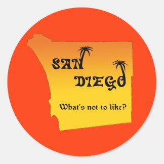 San Diego--¿como cuál no es? Pegatina Redonda