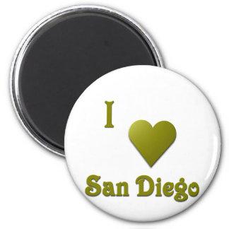 San Diego -- Deep Green Fridge Magnets