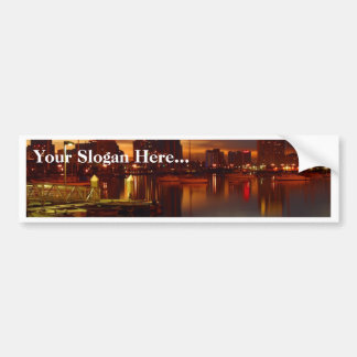 San Diego Docks Night Bumper Stickers