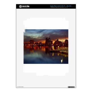 San Diego Docks Night Skins For iPad 3