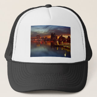 San Diego Docks Night Trucker Hat