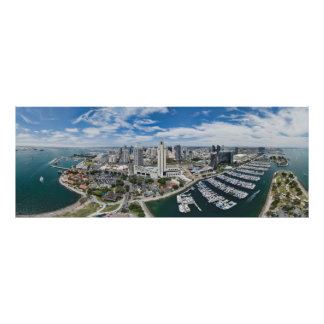 San Diego Downtown Panoramic Poster